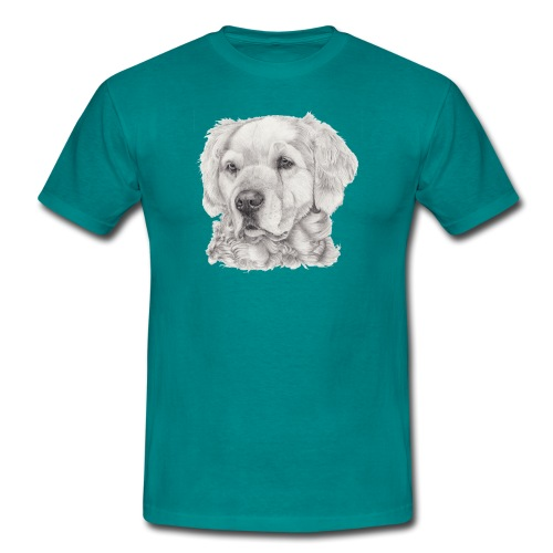 golden retriever - Herre-T-shirt