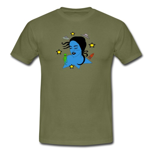 Alien Abduction - T-shirt herr