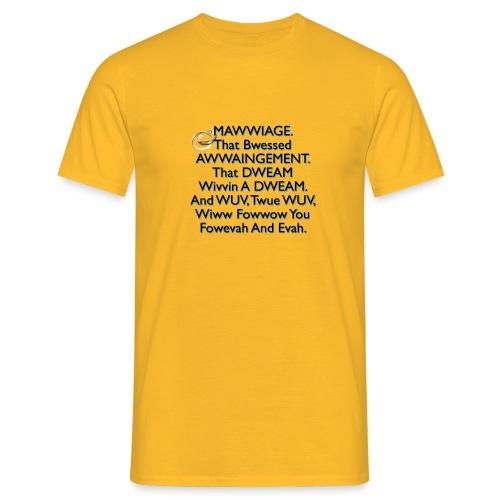 Mawwiage (blue) - Men's T-Shirt