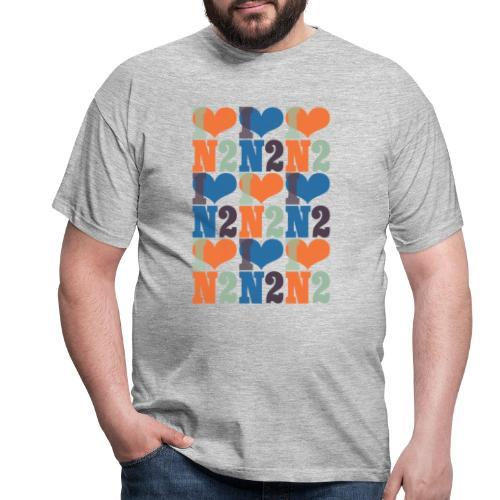 East Finchley I Love N2 pattern - Men's T-Shirt