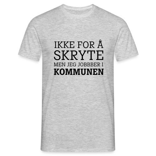 kommunearbeider - T-skjorte for menn