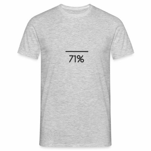 71 PERCENT logo - Men's T-Shirt