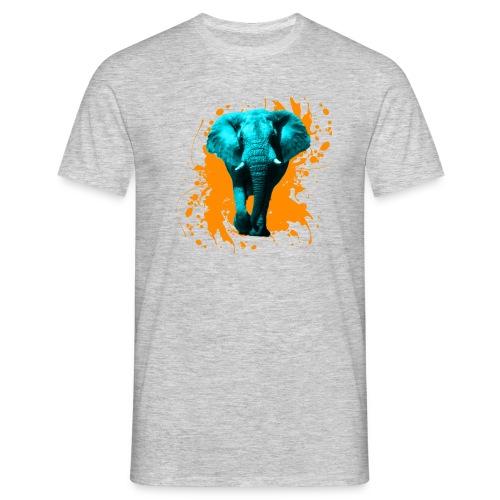 Elefant in Türkis - Männer T-Shirt