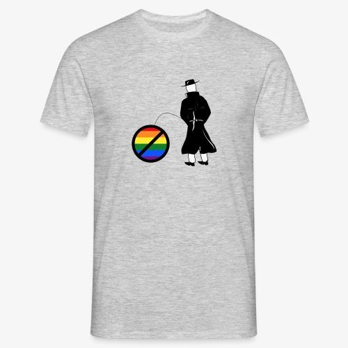 Pissing Man against homophobia - Männer T-Shirt
