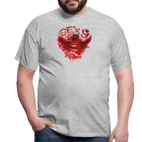 SEXY Lips heart Wings - Sexy Lippen Herz Flügel - Männer T-Shirt
