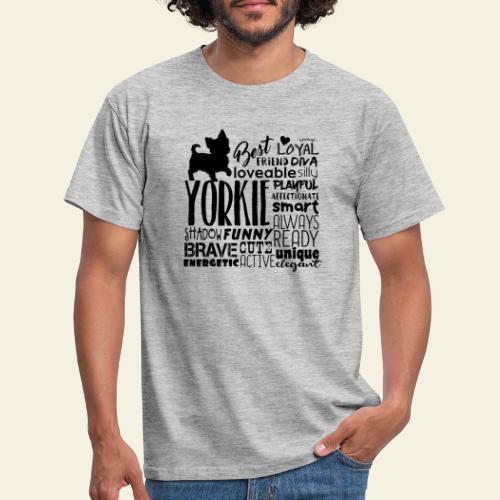 Yorkshire Terrier Words B - Miesten t-paita
