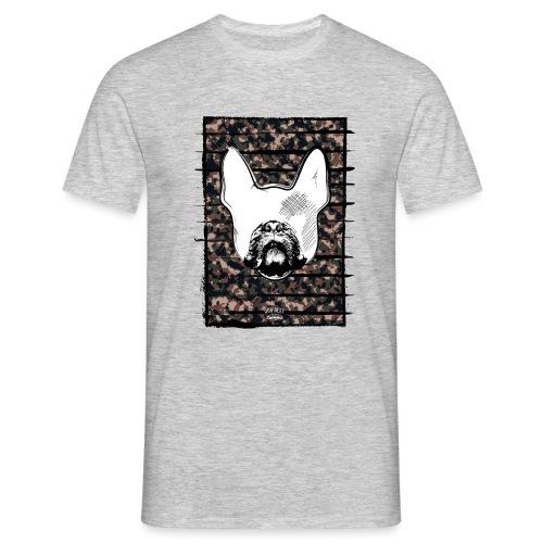 Französische Bulldogge Camouflage Silhouette - Männer T-Shirt