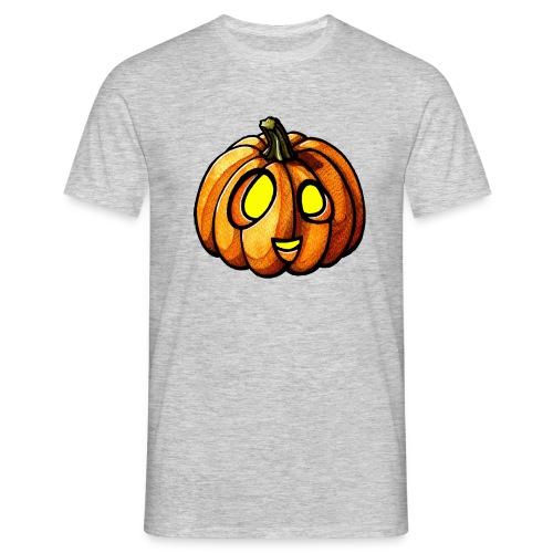 Pumpkin Halloween watercolor scribblesirii - Männer T-Shirt