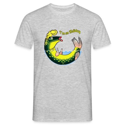 10-39 LADY FISH HOLIDAY - Haukileidi lomailee - Miesten t-paita