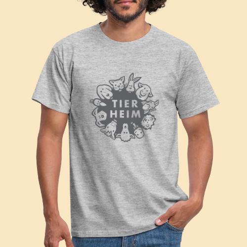 Tierheim Logo gray 75 - Männer T-Shirt