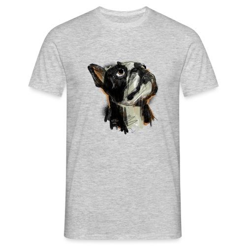 Französische Bulldogge Zeichnung - Männer T-Shirt