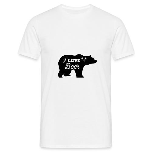 love beer - Mannen T-shirt