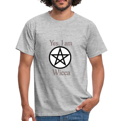 Si, soy wicca - Camiseta hombre