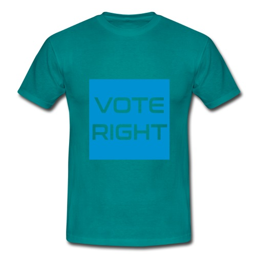 vote right - Männer T-Shirt