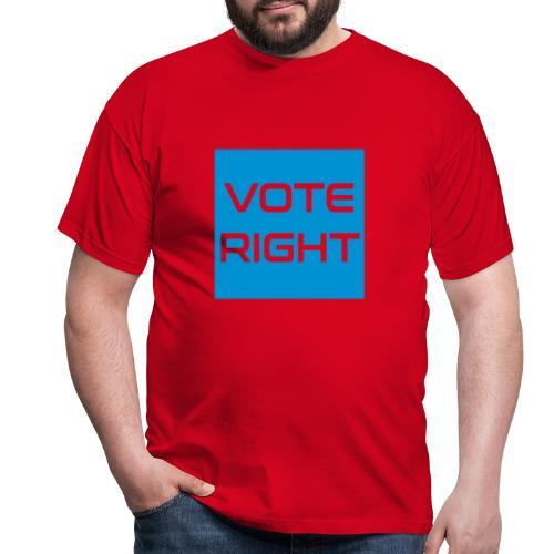 vote right - Männer T-Shirt