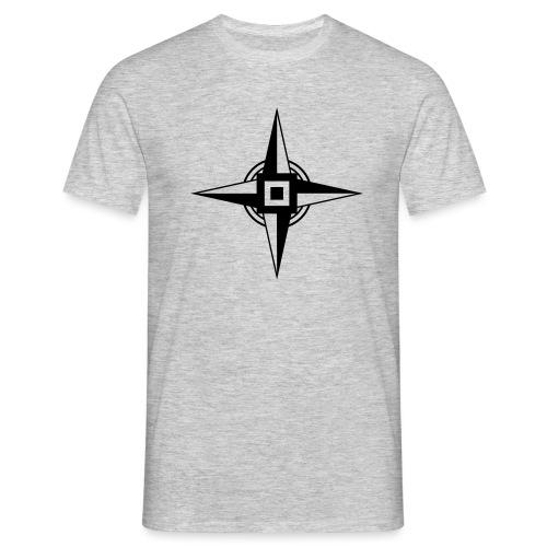 Erdenstern, Symbol, Vierzackiger Stern, Windrose - Männer T-Shirt