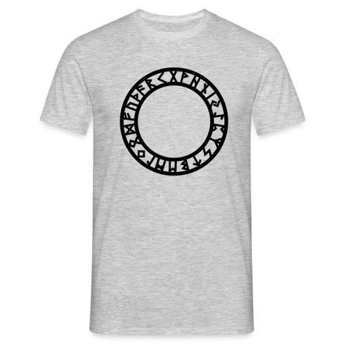 Runen Kreis, Magie Symbol, Futhark, Germanisch - Männer T-Shirt