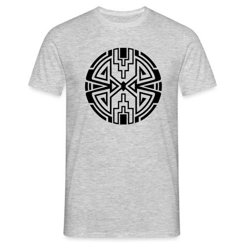 Indianer Kreis Symbol Pfeil Diamant Konzentration - Männer T-Shirt