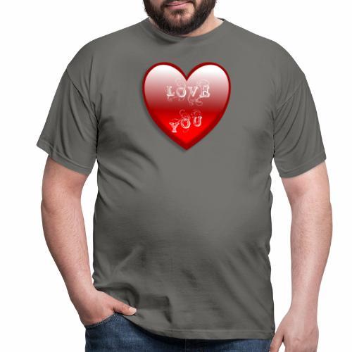 Love You - Männer T-Shirt