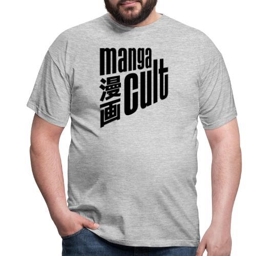 Manga Cult Logo Schwarz - Männer T-Shirt