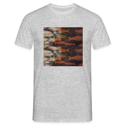 man and fish - Men's T-Shirt