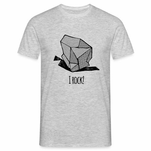 I ROCK No 1 b w - Mannen T-shirt