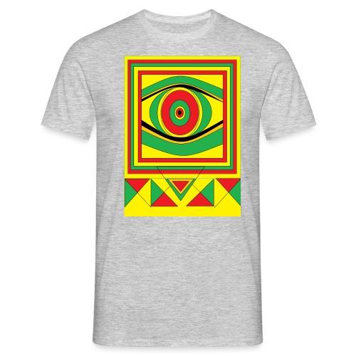 ALL seeing eye RASTA burn down babylon Original - Mannen T-shirt
