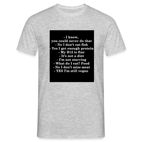 Boring questions to Vegans - T-shirt Homme