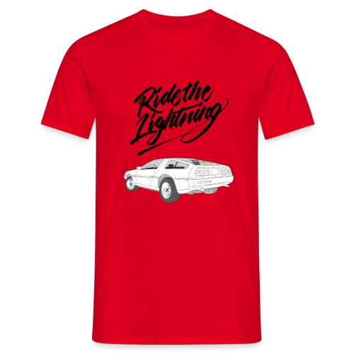 Delorean – Ride The Lightning - Männer T-Shirt