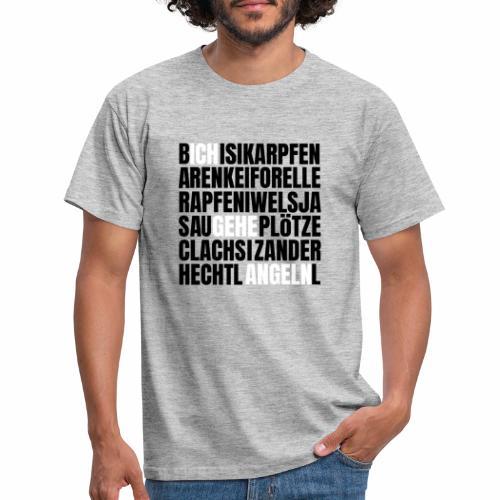 Ich gehe Angeln Angel Fish Fisch Fishing Fishyworm - Männer T-Shirt