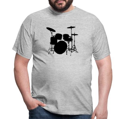 Bateria negro drums - Camiseta hombre