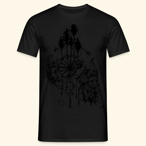 renard nature - T-shirt Homme