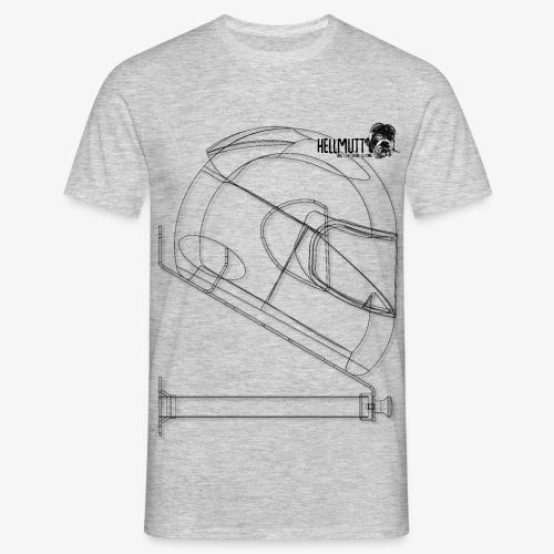HellMutt LOGO Bracket LightFabric LARGE - Men's T-Shirt
