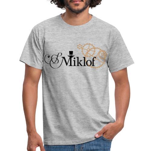 miklof logo black gold 3000px - Men's T-Shirt