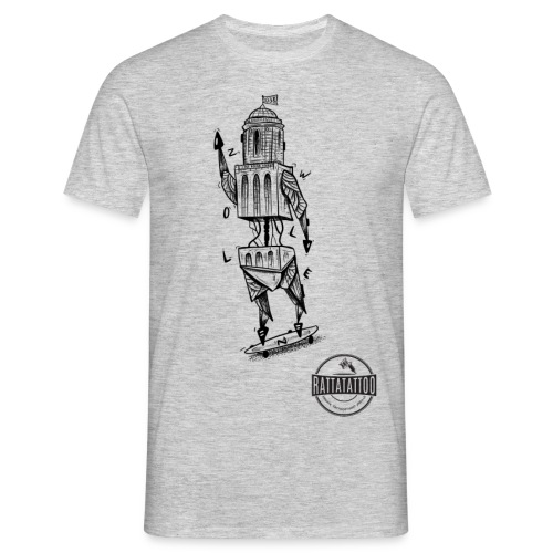 ZWOLLE 038 rattatattoo zwolle perperbus - Mannen T-shirt