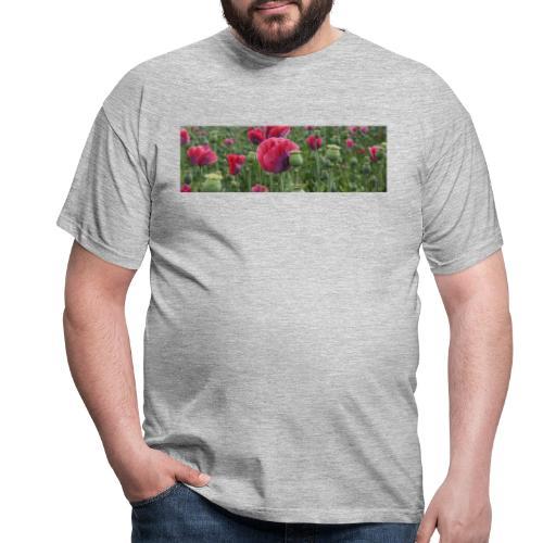 Blühendes Mohnfeld - Männer T-Shirt