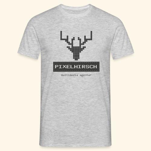 PIXELHIRSCH - grau - Männer T-Shirt
