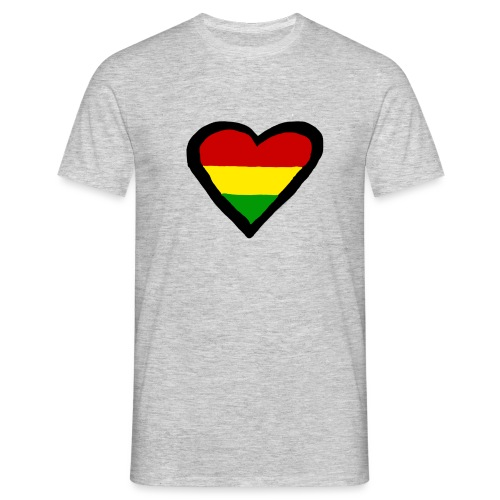 LOGO 1 RASTA BACKWARDS - Mannen T-shirt