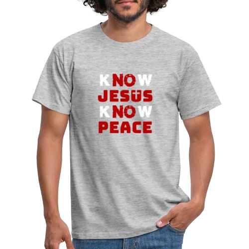 Know Jesus Know Peace (Classic) - Männer T-Shirt