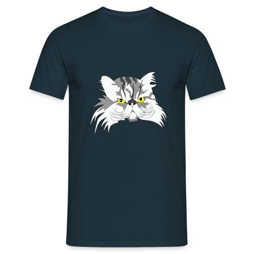 Katze - Chuck Norris - Theophil-Nerd - Männer T-Shirt