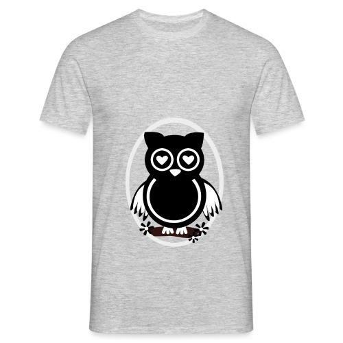 Eule Lilli - Männer T-Shirt