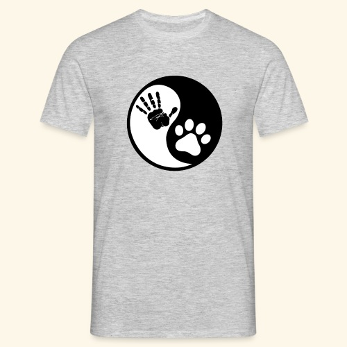 Hunde Yin Yang T-Shirt - Männer T-Shirt