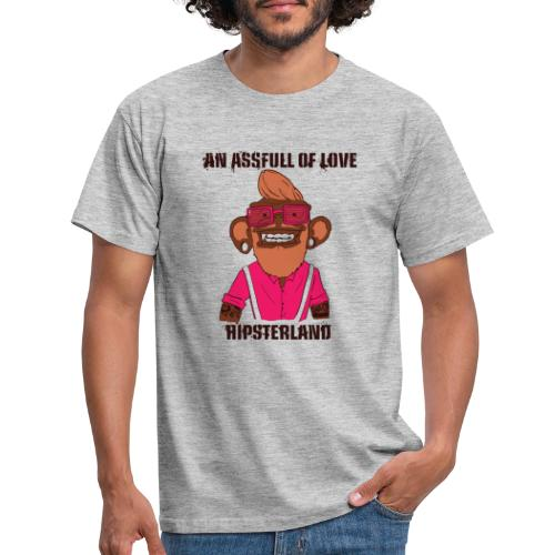 Hipsterland Affe - Männer T-Shirt