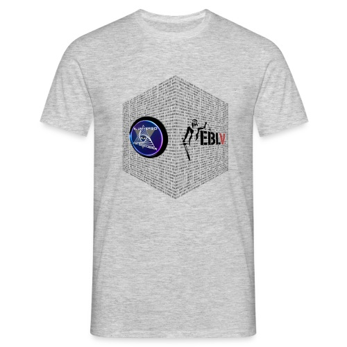 disen o dos canales cubo binario logos delante - Men's T-Shirt