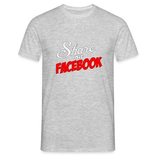 Share_on_fb_RED - T-skjorte for menn