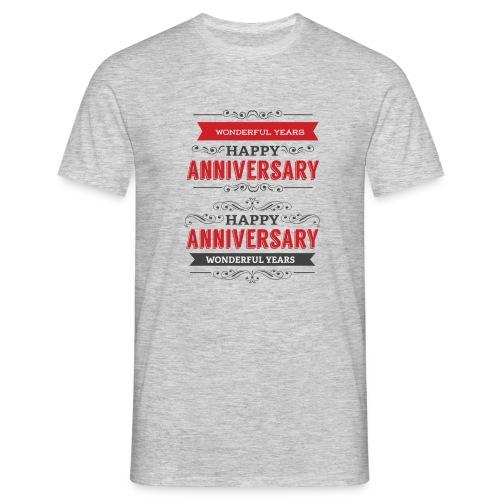 gift happy anniversary,wonderful years - T-shirt Homme