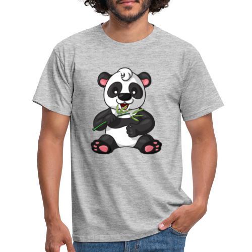 Panda Bambus Comic niedlich - Männer T-Shirt
