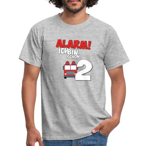 Feuerwehrauto 2. Geburtstag Jungen 2 Jahre - Männer T-Shirt
