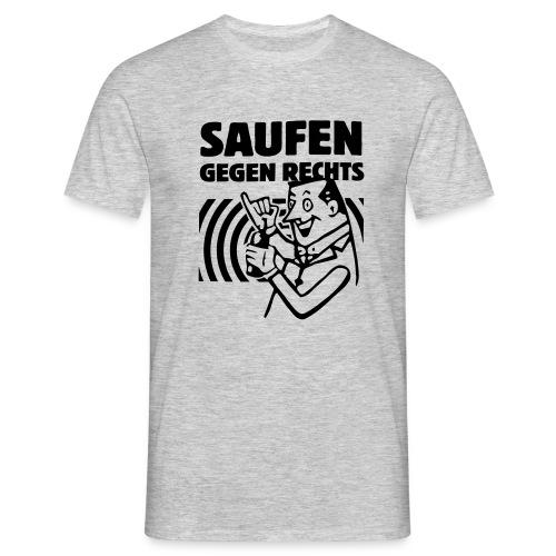 Saufen gegen Rechts - Männer T-Shirt