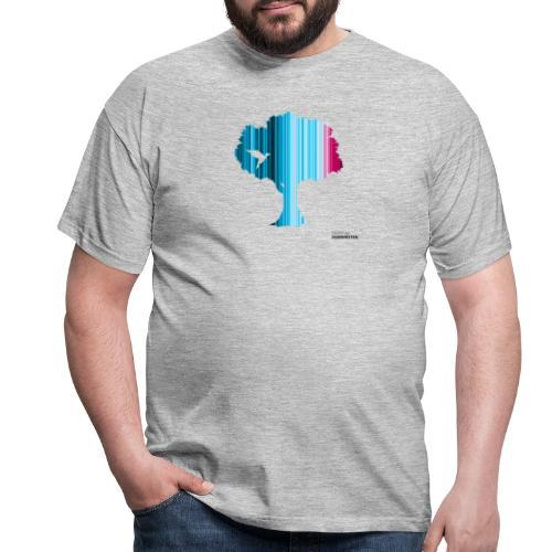 Warming stripes: Wir brauchen die Natur! - Männer T-Shirt